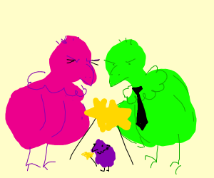Cosmo and Wanda as Vultures