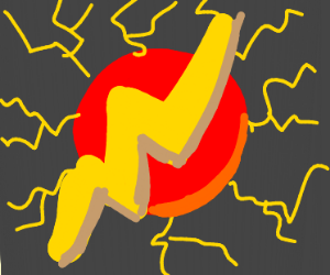 The Flash's emblem