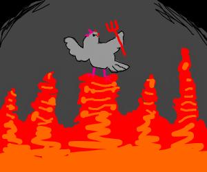 satan is a pidgeon