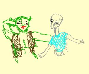 Shrek x Squidward