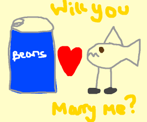 tin of beans x shark with legs love story