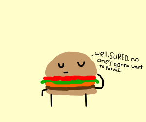 Hamburger is confident about not being eaten