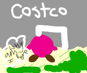 Kracko (Kirby) goes to Costco for no reason