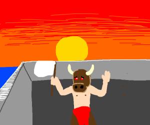 Surrendering Minotaur