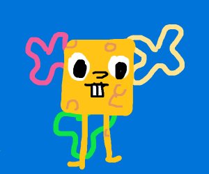 Spongebob without clothes