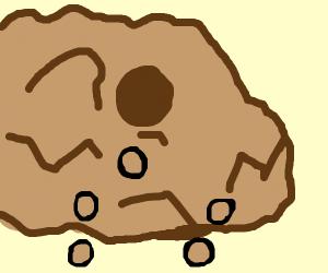 rocks fall down a hill