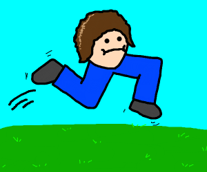 Running man, with no torso