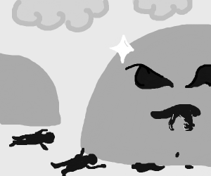 Shiny Rock can eat two humans at once