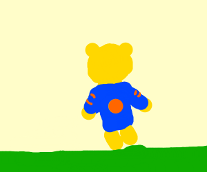 winnie the poo in his parole straight jacket