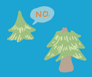 """decapitated tree head says """"no"""" to its body"""
