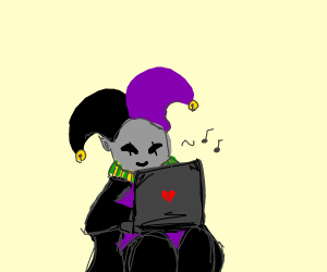 Jevil browses the interwebs