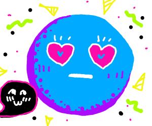 ♡-♡ approaching Blushing Emoji