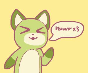 x3 furry says rawr