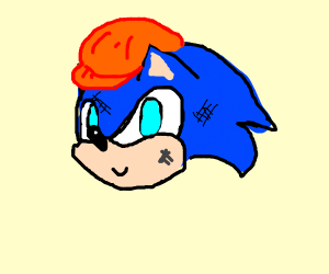 Sonic is a construction worker