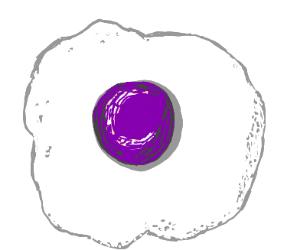 egg with purple eggyolk