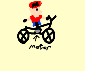 Mario on a motorbike