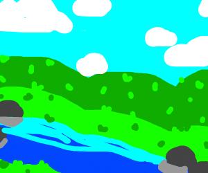 a peaceful stream