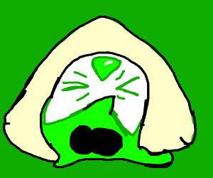 Angry green slime