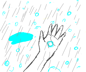 Hand in a Hailstorm