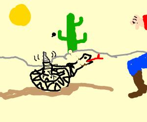 Rattlesnake (Somekid22 will draw the phrase)