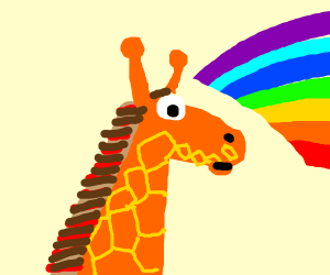giraffe rainbow
