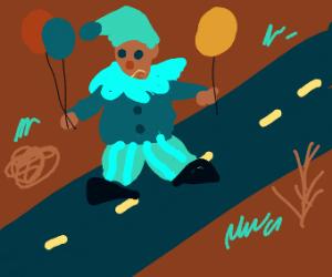 a clown road