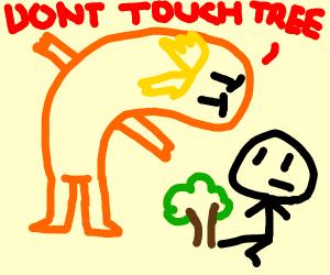 Lomax say to man to dont touch a tree