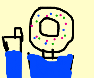 Guy with donut for head