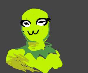 Kermit the frog owo face