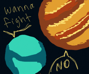Earth plans to fight Jupiter