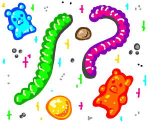 gummy worms and gummy bears