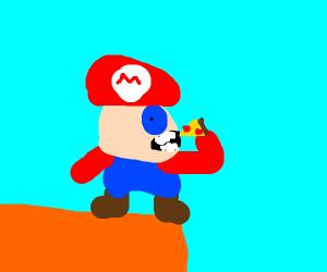 Deformed Mario Eats a Pizza Pie