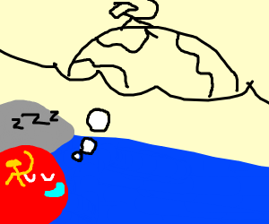 USSR-ball dreams about conquering Earth.