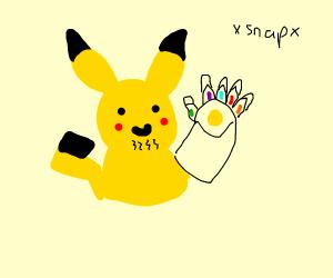 Pikachu is thanos