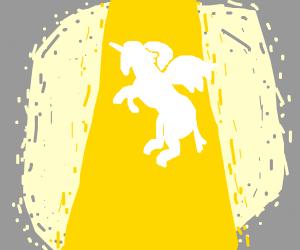 angelic unicorn with wings