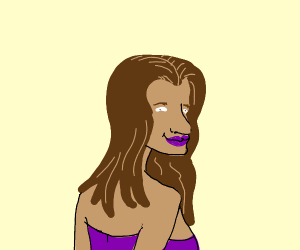 semi-attractive brown-haired woman