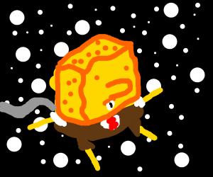 spongebob goes to space