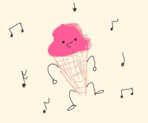 Dancing ice cream