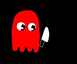 Pacman ghost with knife