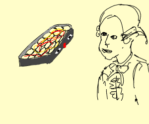 Hot Dish kissing Mozart