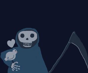 Death Cuddles with a chicken