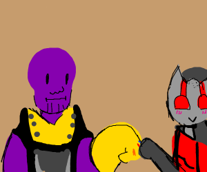 Thanos and Antman are allies now