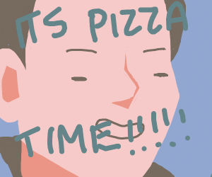 Man calling someone for pizza