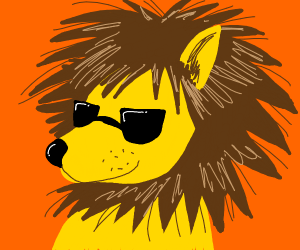 Lion with sunglasses
