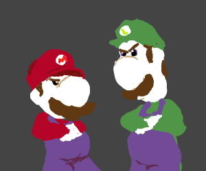 Mario Brothers are pissed