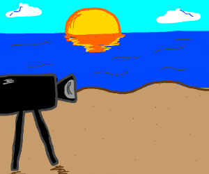 Taking a video of the beach