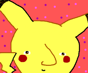 Pikachu with a human nose