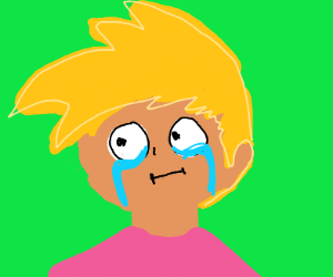 sad paranoid guy cries