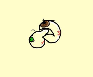 eyeball eats eyeball