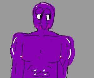 a VERY handsome squidward thanos (hot)